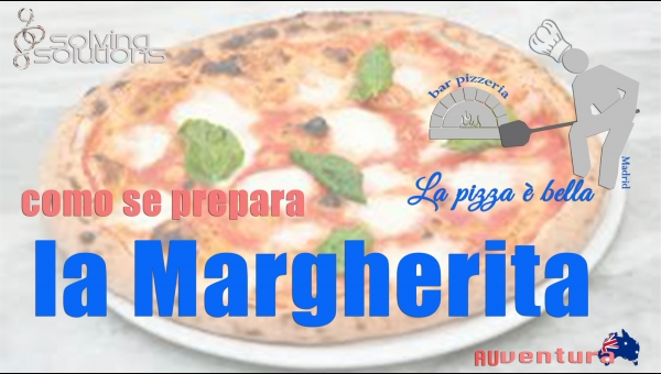 Como se prepara la pizza Margherita a La pizza è bella